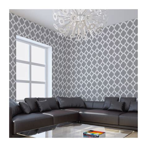 large wall stencils wall stencils moroccan tiles allover airbrush large size