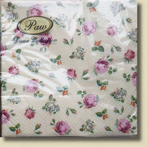 Ebay Decoupage - 20 paper napkins shabby chic decoupage vintage choice of 4