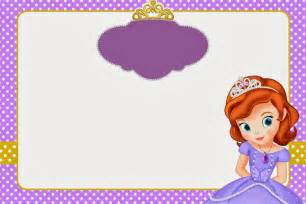 princess sofia template sofia the invitations and free printables