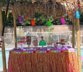 luau backyard party hawaiian theme kids birthday party ideas