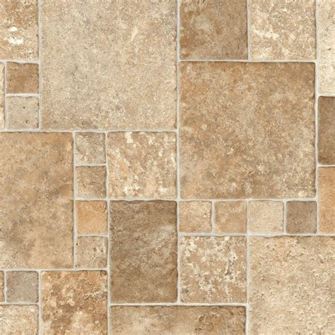 vinyl sheet flooring trafficmaster take home sle sandstone mosaic vinyl sheet 6 in x 9 in s030hd284z4290 936