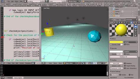 python tutorial blender game engine blender 2 6 tutorial python game engine programming
