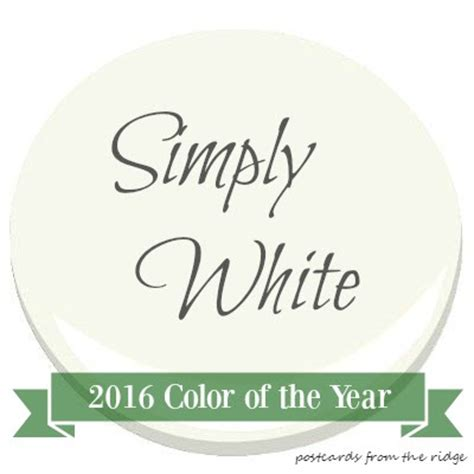 2016 paint color of the year color trends 2016 color of the year simply white