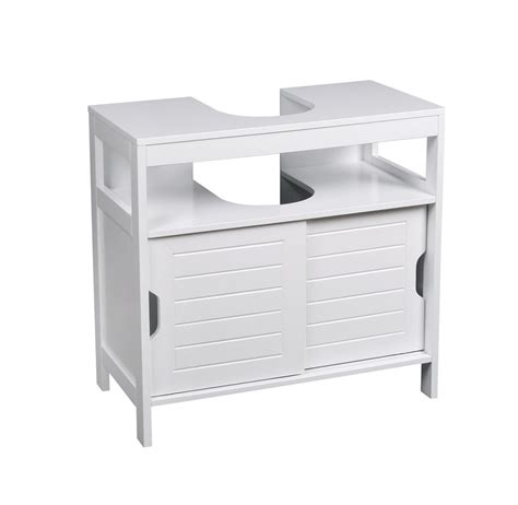 Sink Bathroom Storage Cabinet White Wooden Under Sink Bathroom Storage Cabinet Br108 Ebay