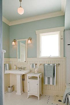 Blue Wainscoting by The Blue On The Walls With Wainscot Bathroom