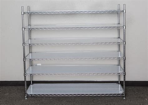 metro brand metal storage rack ebth