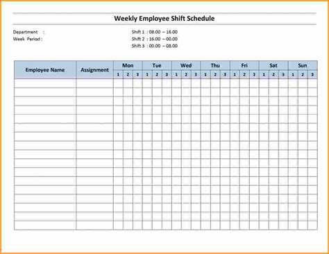 employee shift schedule template employee schedule template weekly employee shift schedule