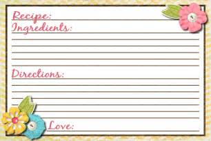 recipe cards template free photo templates for recipe cards images