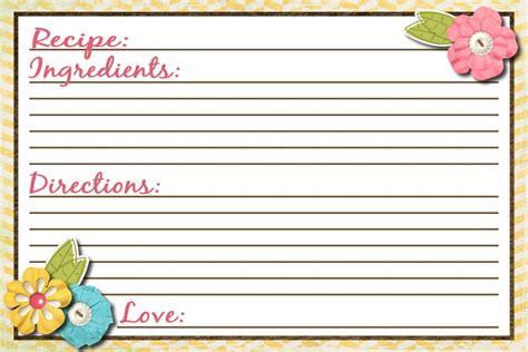 sassy sanctuary recipe card  printable