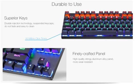 Gigabyte K83 Mechanical Gaming Keyboard Blue Switch motospeed k83 87 key bluetooth 3 0 wired outemu switch mechanical gaming keyboard sale