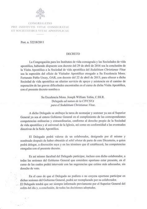 decreto 2423 de 2016 decreto sobre sodalicio v 237 ctor r nomberto doctor en