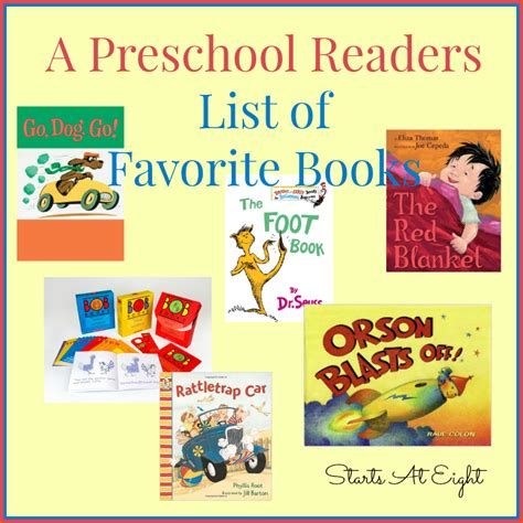 favourite picture books preschool readers list of favorite books startsateight