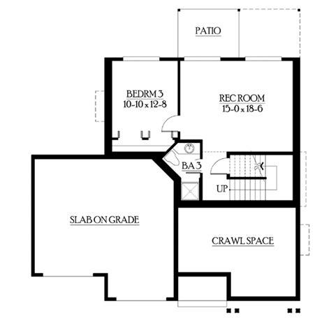 basement floor plan 3 craftsman basement finish compact craftsman plan with finished basement 23244jd