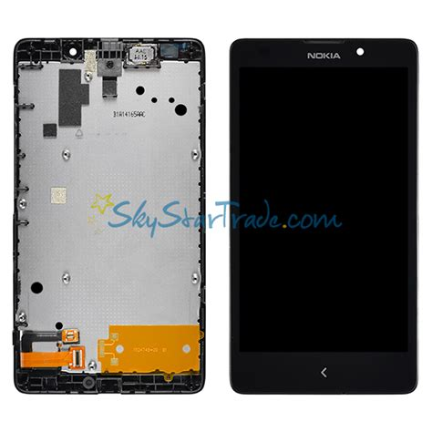 nokia xl rm 1030 rm 1042 lcd screen display with digitizer touch panel bezel frame