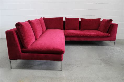 velvet sofa sets b b italia charles u and l shape three section sofa in