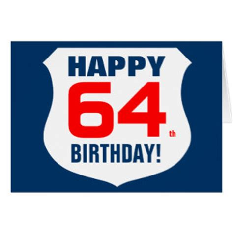 64th Birthday Cards   Greeting & Photo Cards   Zazzle