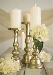 As well as different sizes of pillar candles for a stylish table top