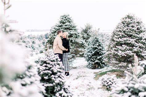 raleigh tree farm snowy tree farm session raleigh carolina couples photographer