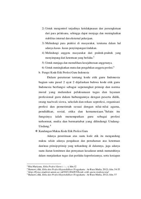 Profesi Kependidikan Rugaiyah Ghalia Indonesia makna kode etik profesi guru