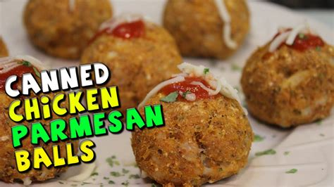 canned chicken parmesan balls recipe youtube