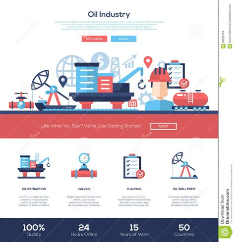 Oil And Gas Industry Website Header Banner With Webdesign And Gas Company Website Template