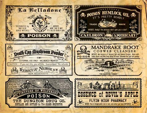 printable poison labels potion bottle labels halloween witch labels poison labels