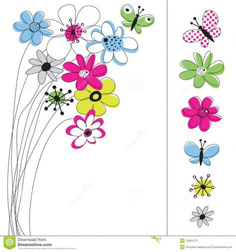 imagenes infantiles vectorizadas gratis gr 225 fico de vector fijado con las flores ilustraci 243 n del