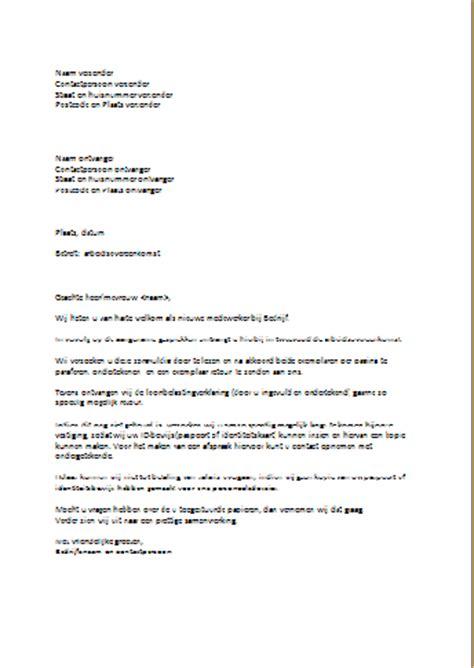 Officiele Briefformat Begeleidende Brief Overeenkomst