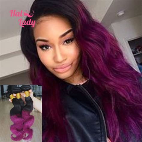colored weave aliexpress buy 6a purple ombre weave two tone