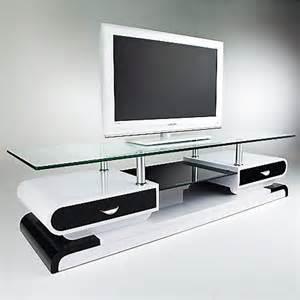 meuble tele blanc meuble tv monza tele lcd plasma laque noir blanc meuble