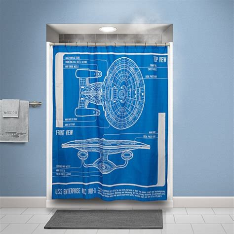 star trek curtains star trek tng enterprise blueprint shower curtain
