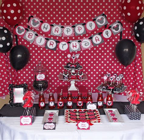 minnie mouse printable birthday decorations minnie mouse birthday party package red deluxe printable