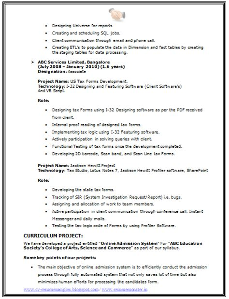 freshersworld resume sle bsc computer science resume format resume template easy