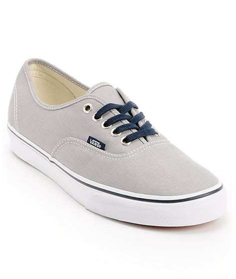 vans authentic mid gray navy skate shoes mens at