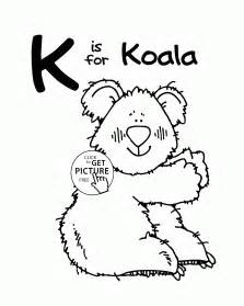 color with k letter k alphabet coloring pages for letter k
