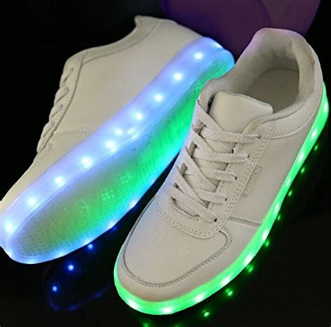 galleon led light up shoes all white mens 8