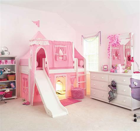 girl loft beds girls castle loft bed feel the home