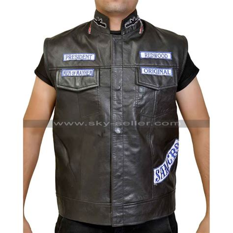 auction of jax tellers cut sons of anarchy jax teller motorcycle vest with patches s7