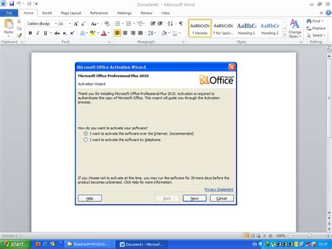 Office 2010 Activator by Cara Menghilangkan Microsoft Activation Wizard Pada Office