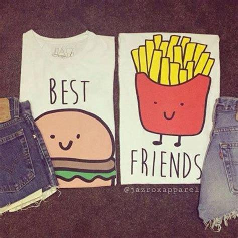 Best Friend t shirt burger and fries top best friends top bff bestfriend shirt lookbook cool