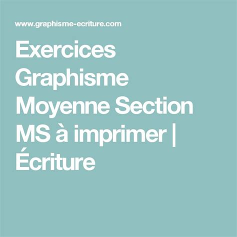 Section 8 Ms by 1000 Id 233 Es Sur Le Th 232 Me Graphisme Moyenne Section Sur Grande Section Maternelle Et
