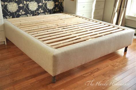 upholstered bed frame diy part  upholstered bed frame