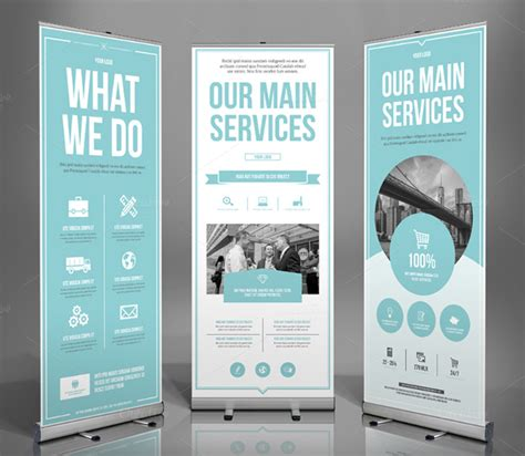 banner design ideas 21 roll up banners free psd ai vector eps format