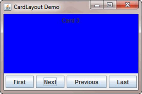Java Swing Cardlayout