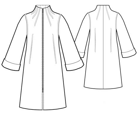 pattern stand up collar raincoat with stand up collar sewing pattern 5749 made
