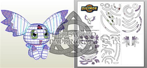 Digimon Digivice Papercraft - digimon culumon papercraft v2 by hellswordpapercraft on