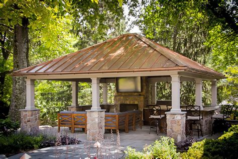 luxury backyard pavilion design ideas  lancaster