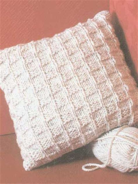 knitted pillow cover pattern free free pillow knitting patterns chunky checks pillow