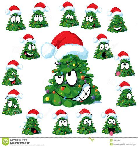 funny christmas trees stock photo image 26876740