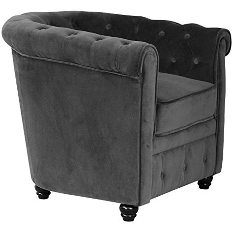 fauteuil velours anthracite fauteuil chesterfield velours gris anthracite